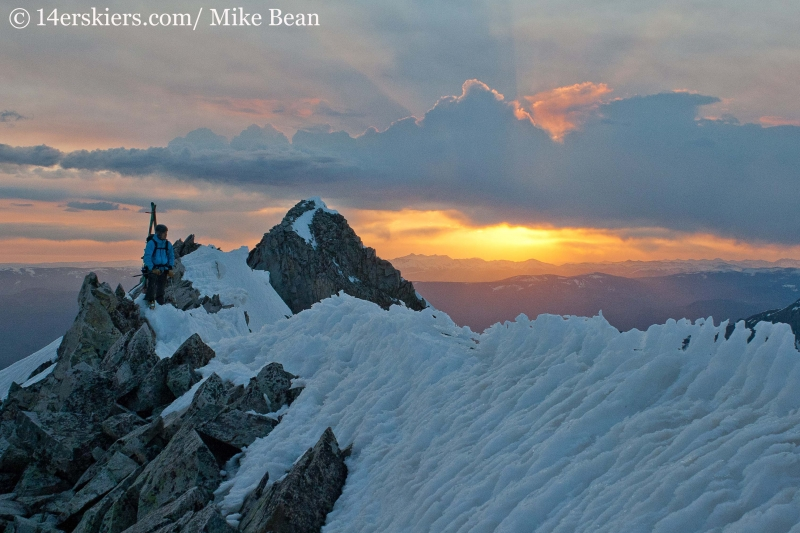 Carl Dowdy skiing Capitol Peak.