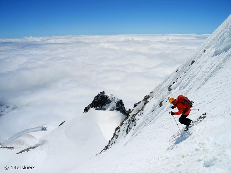 Matt Kamper skiing Mount Hood