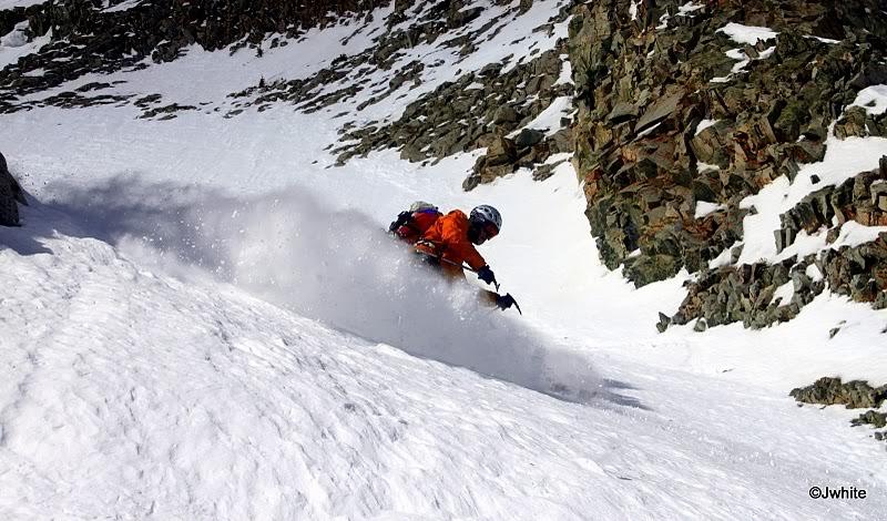 Lou Dawson skiing Mount Sopris