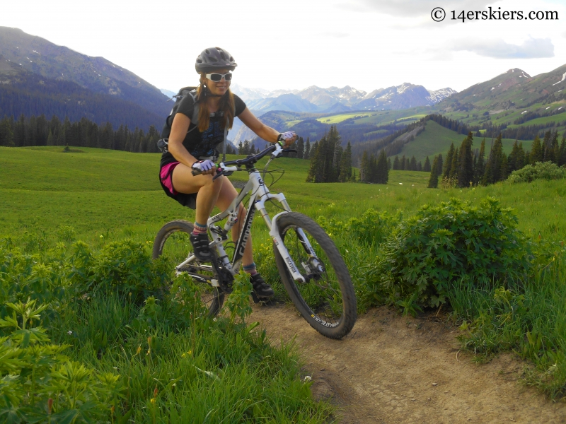 Jenny Veilleux riding 401 near Crested Butte