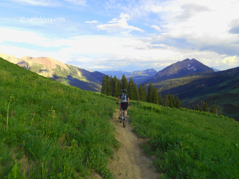 Jenny Veilleux riding trail 401 near Crested Butte