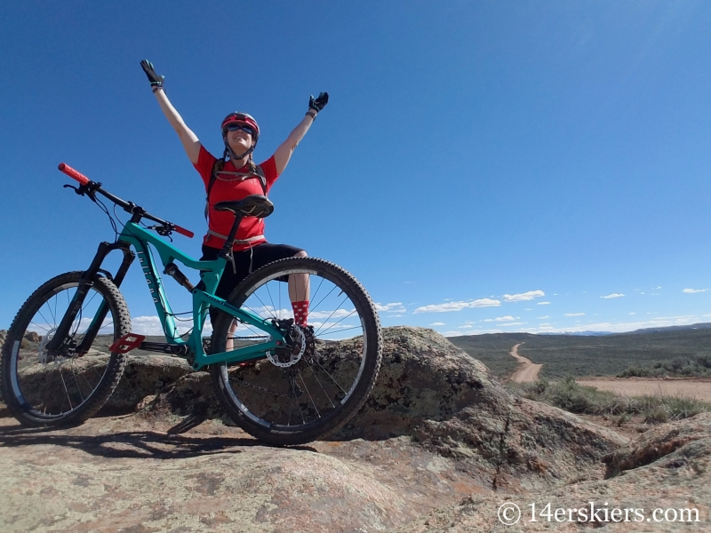 Mountain biking at Hartman Rocks after 6 months of ACL recovery.
