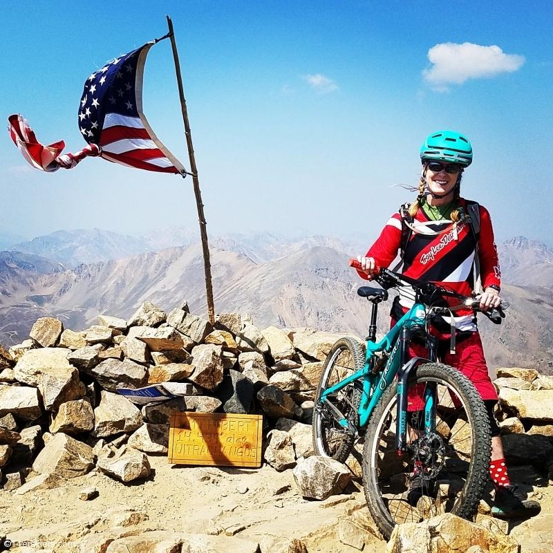 Mountain Biking Mount Elbert.