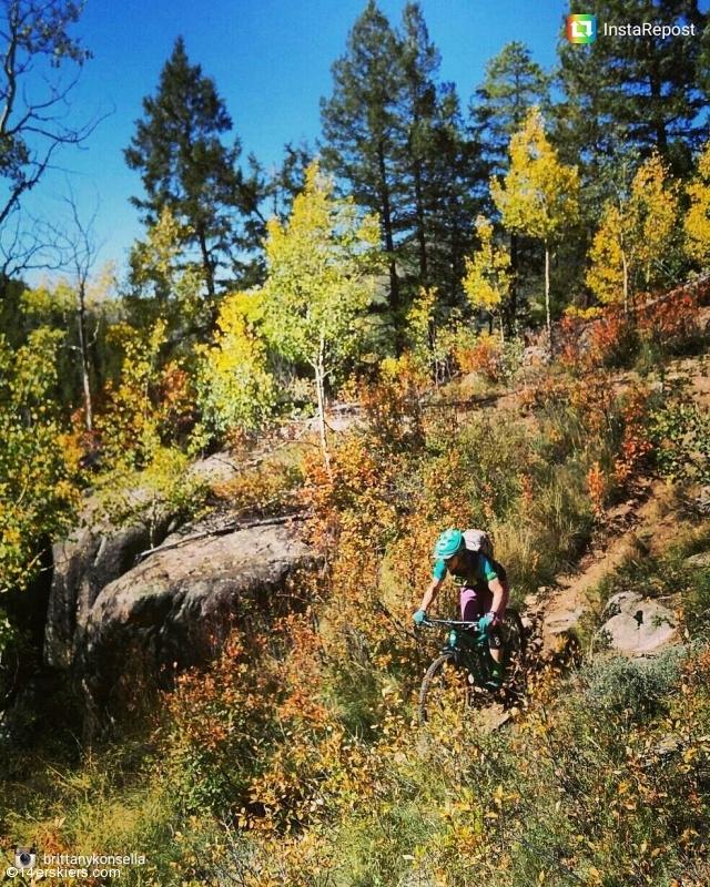 Mountain biking Crested Butte.