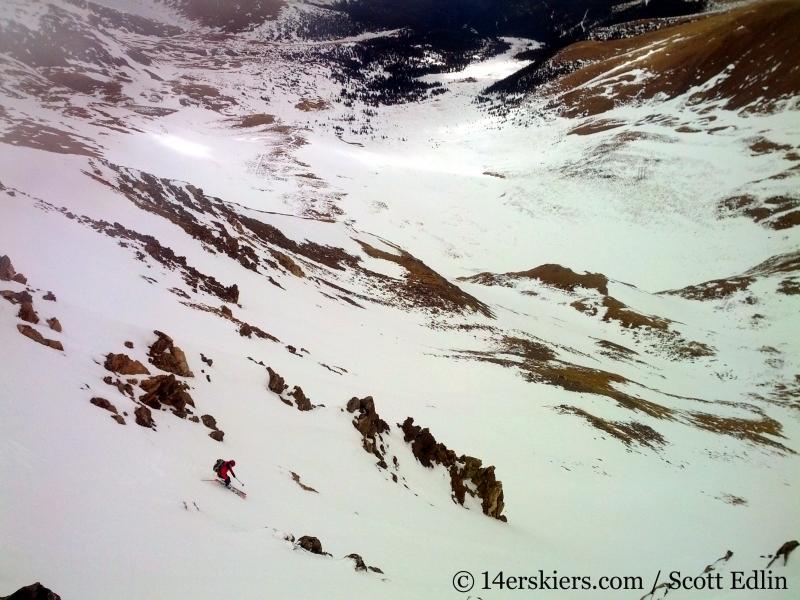 Brittany Walker Konsella backcountry skiing Argentine Peak.