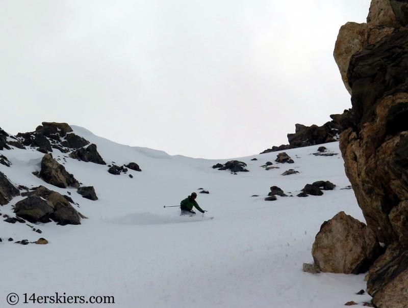 Scott Edlin backcountry skiing Argentine Peak.