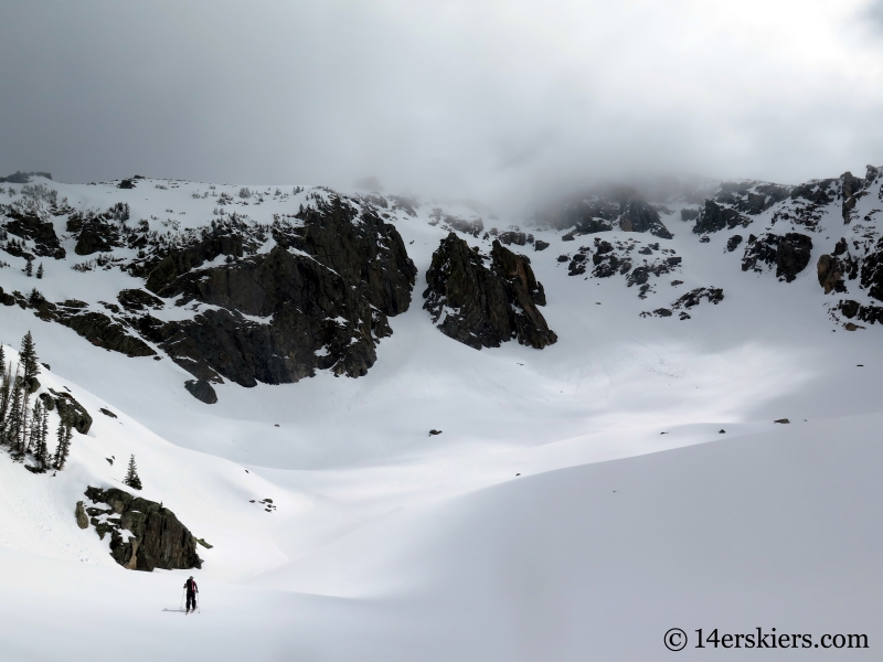 Backcountry skiing Big Agnes Mountain.