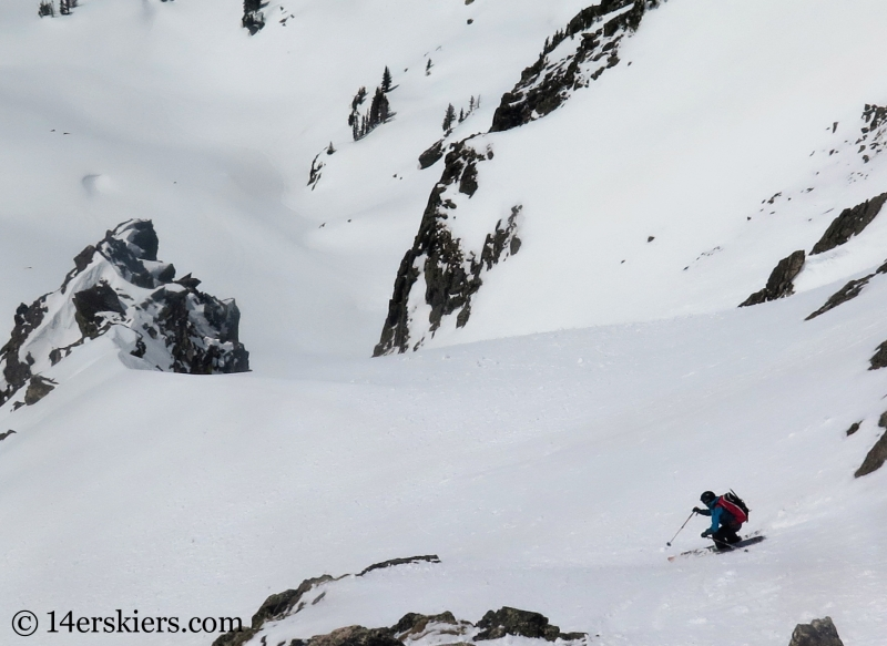 Larry Fontaine backcountry skiing Big Agnes Mountain.