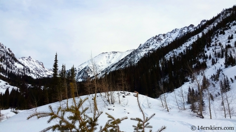 Pitkin Creek Valley views while backcountry skiing in the Gore Range.