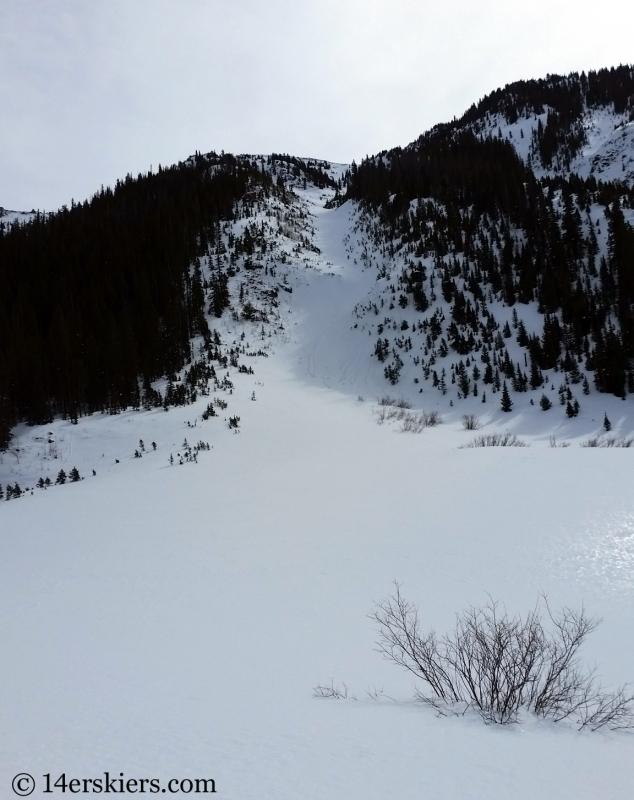 The Birthday Chute in the Gore Range.