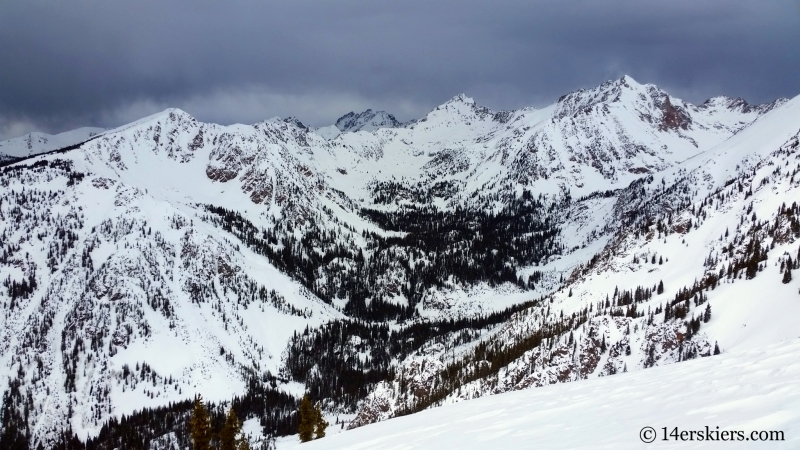Outpost Peak, West Parter Peak, East Partner Peak, in the Gore Range.