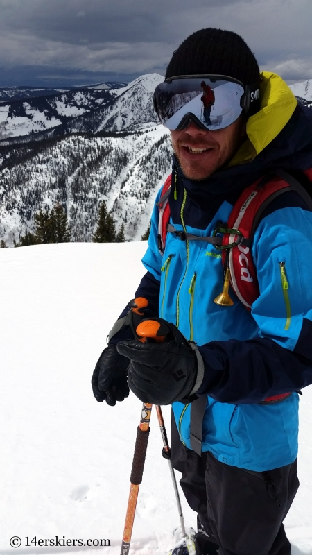 Larry Fontaine backcountry skiing in the Gore Range.
