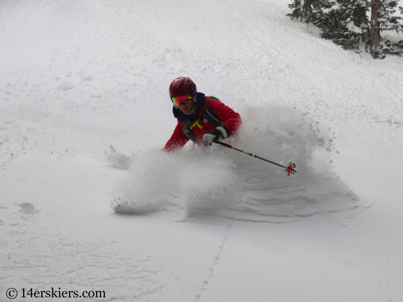Brittany Walker Konsella backcountry skiing in Crested Butte