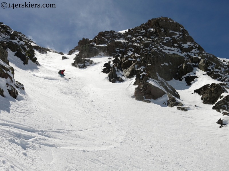 skiing Eureka mountain near westcliffe