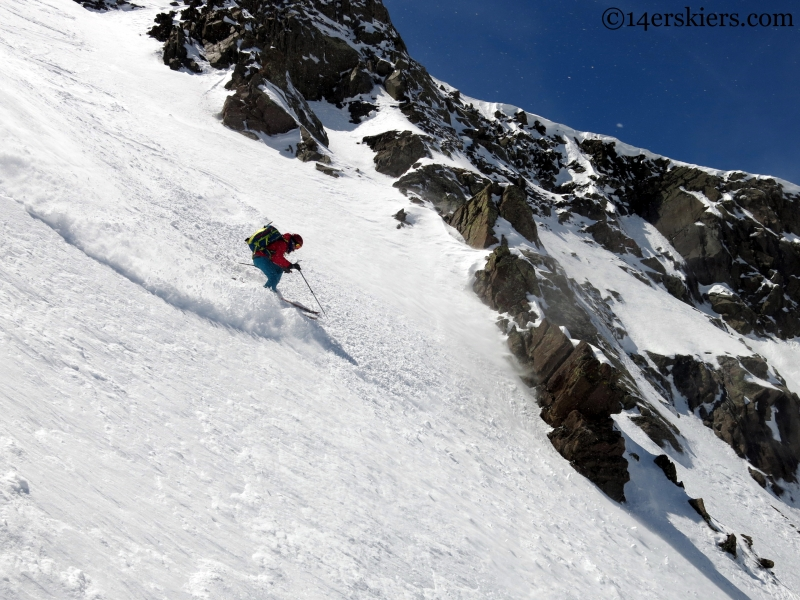 backcountry skiing in the sangre de cristo range
