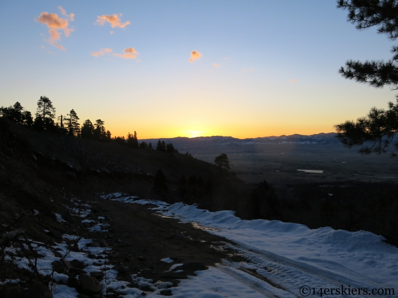 sunrise over the wet mountain valley