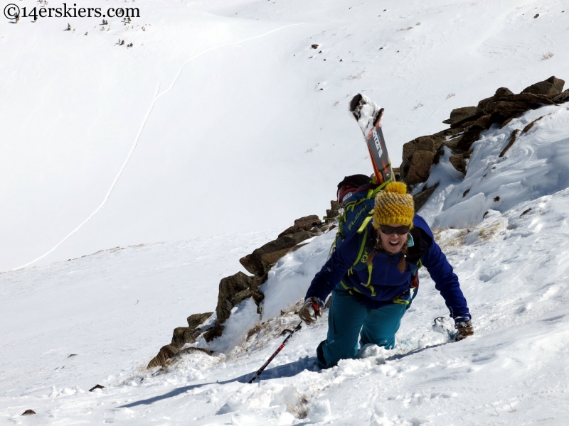 Snow climbing in the Sangre de cristo range
