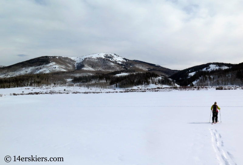 Backcountry skiing Farwell Mountain, North Routt near Steamboat Springs, CO.