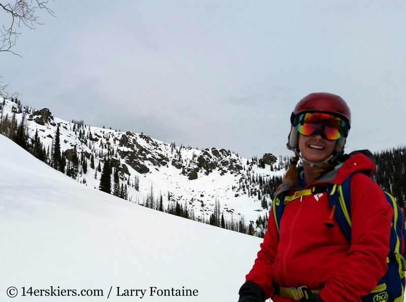 Brittany Konsellabackcountry skiing Farwell Mountain, North Routt, near Steamboat Springs, CO