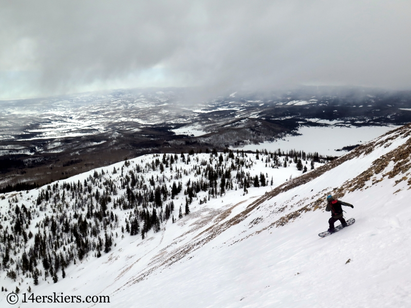 Colin backcountry skiing Hahs Peak in North Routt, near Steamboat Springs, CO.