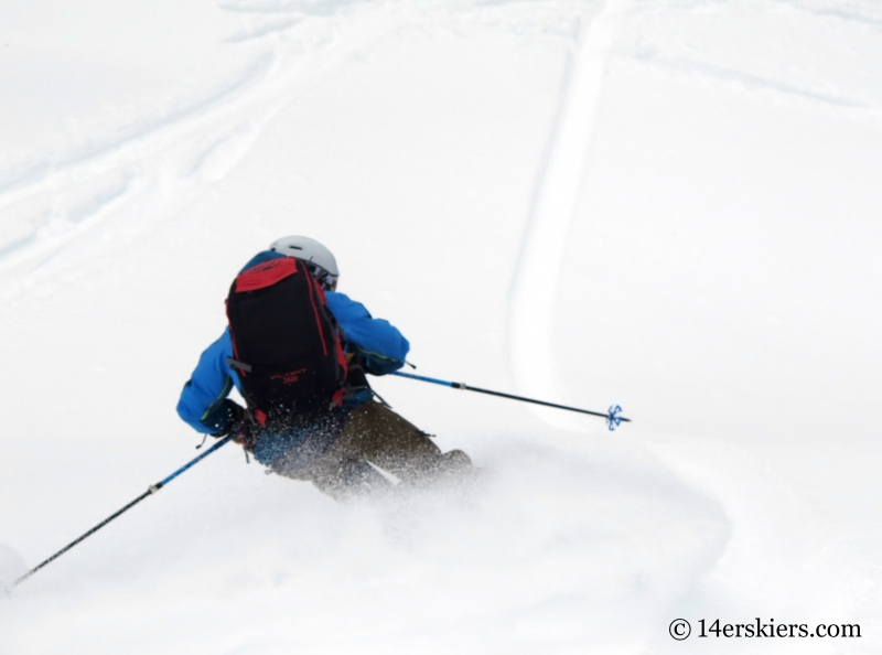 Frank Konsella backcountry skiing Hahs Peak in North Routt, near Steamboat Springs, CO.
