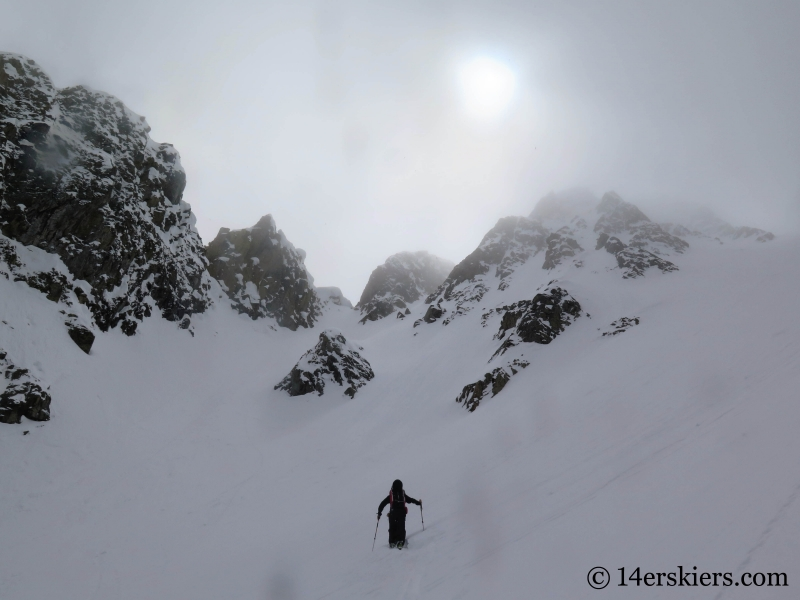 Larry Fontaine backcountry skiing at Nokhu Crags near Cameron Pass