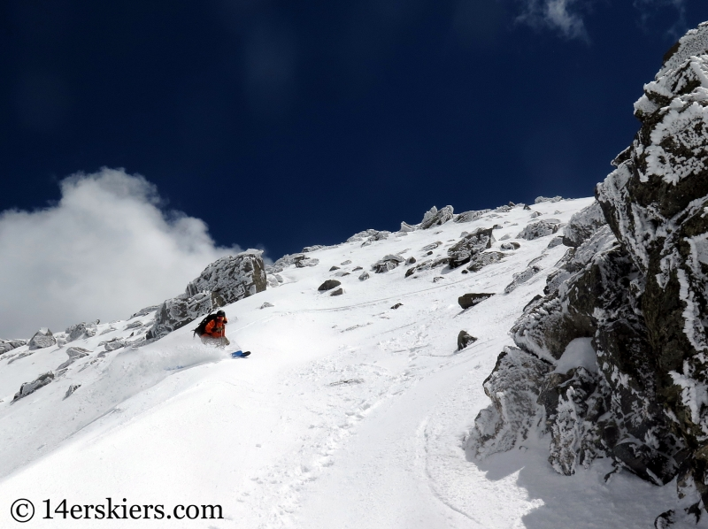 Frank Konsella skiing North Arapahoe Peak in the Indian Peaks Wilderness.