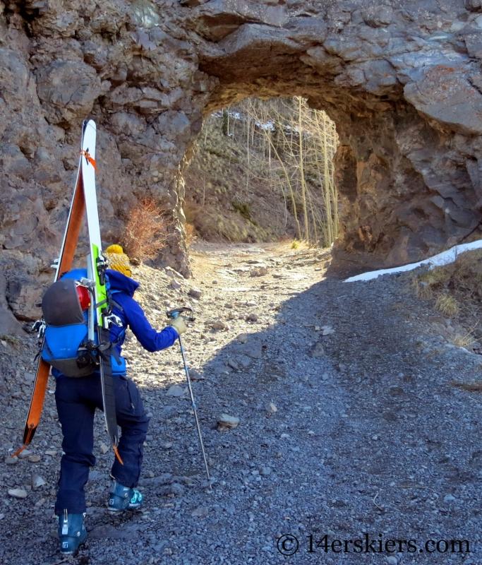 Hiking with the Patagonia KnifeRidge pants.