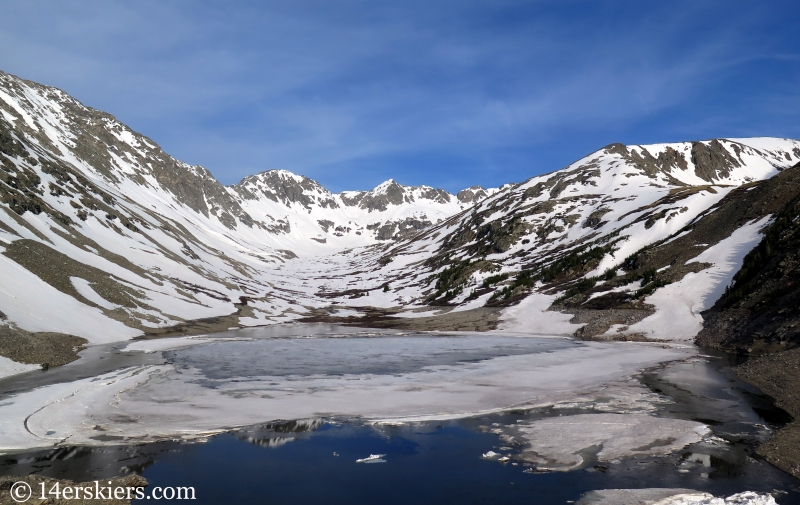 View from the dam at Blue Lakes near Quandary Peak, CO.