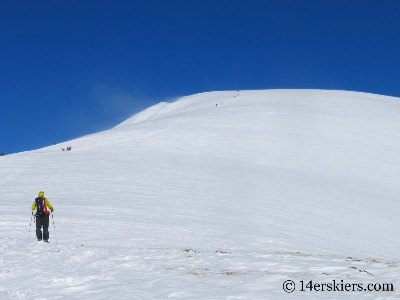 Larry Fontaine backcountry skiing Quandary Peak.