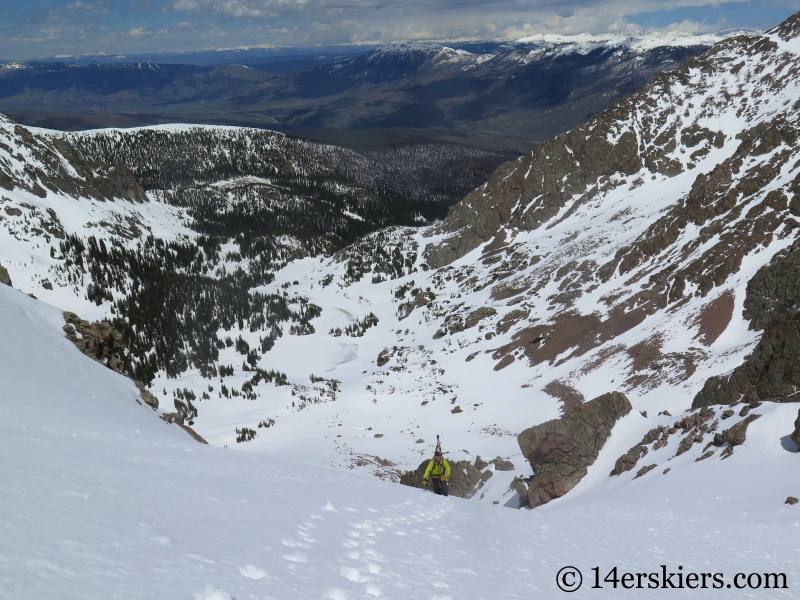 Backcountry skiing Big Bad Wolf on Red Peak in the Gore Range.