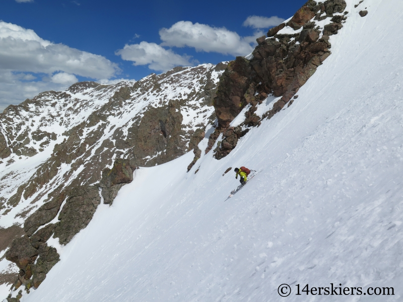 Larry Fontaine backcountry skiing Big Bad Wolf on Red Peak in the Gore Range.