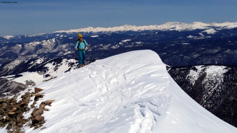 Ski Hayden summit