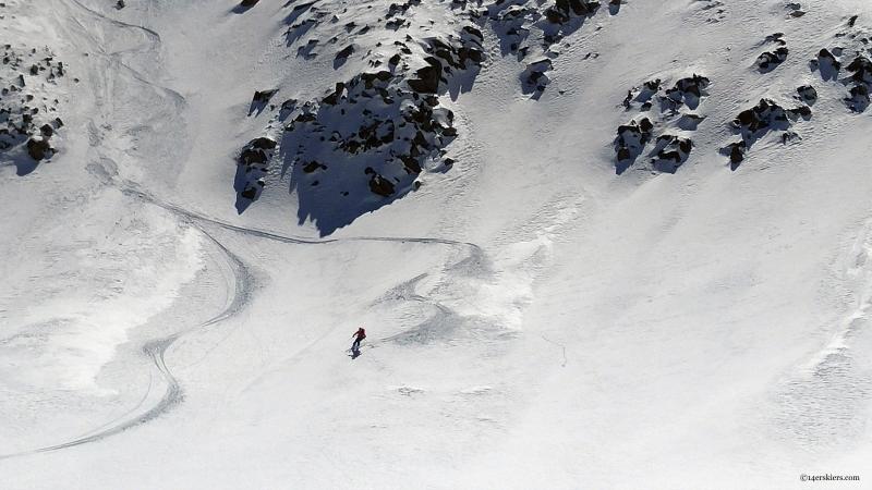 skiing ski hayden peak