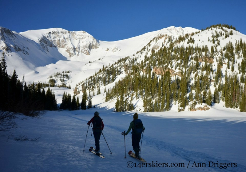 Backcountry skiing Thomas Lakes, Mount Sopris.