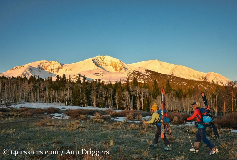 Backcountry skiing Mount Sopris, Colorado.