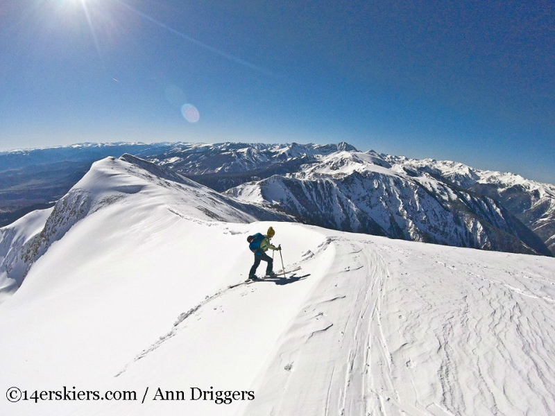 Backcountry skiing on Mount Sopris.