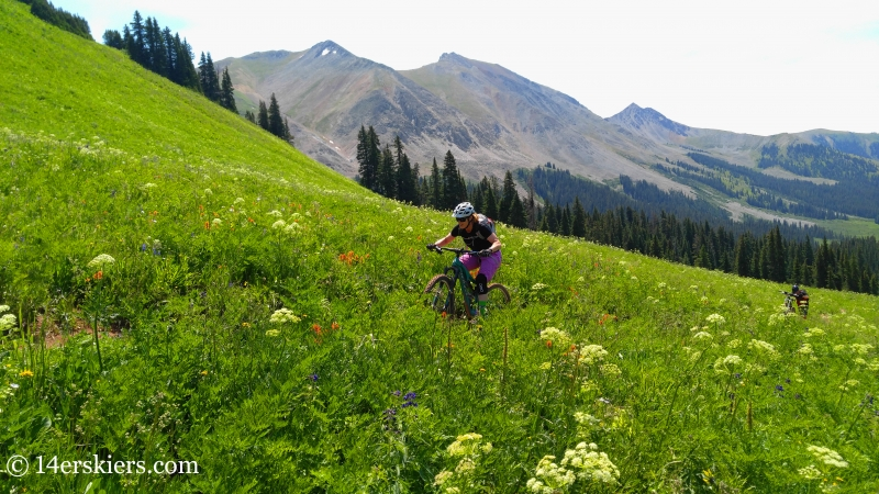Brittany Konsella mountain biking trail 583 near Crested Butte.