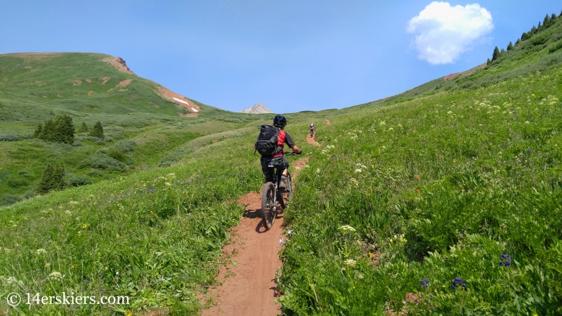 Mountain biking trail 583 near Crested Butte.