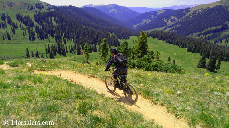 Larry Fontaine mountain biking trail 400 near Crested Butte.