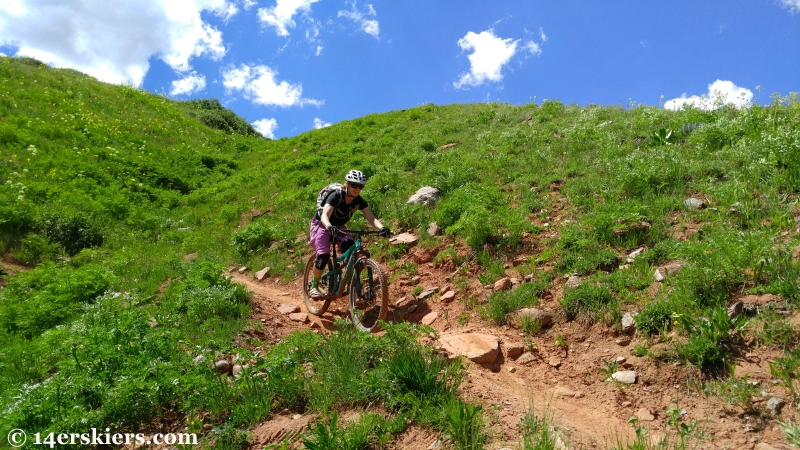 Brittany Konsella mountain biking Double Top near Crested Butte.