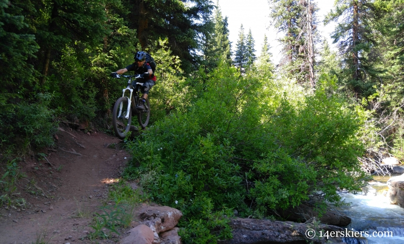 Larry Fontaine riding Cement Creek trail near Crested Butte.