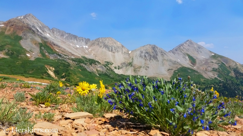 Star Peak and Taylor Peak from trail 583 near Crested Butte.