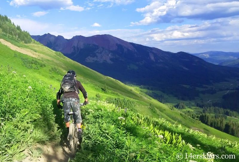 Larry Fontaine mountain biking 401 near Crested Butte, CO.