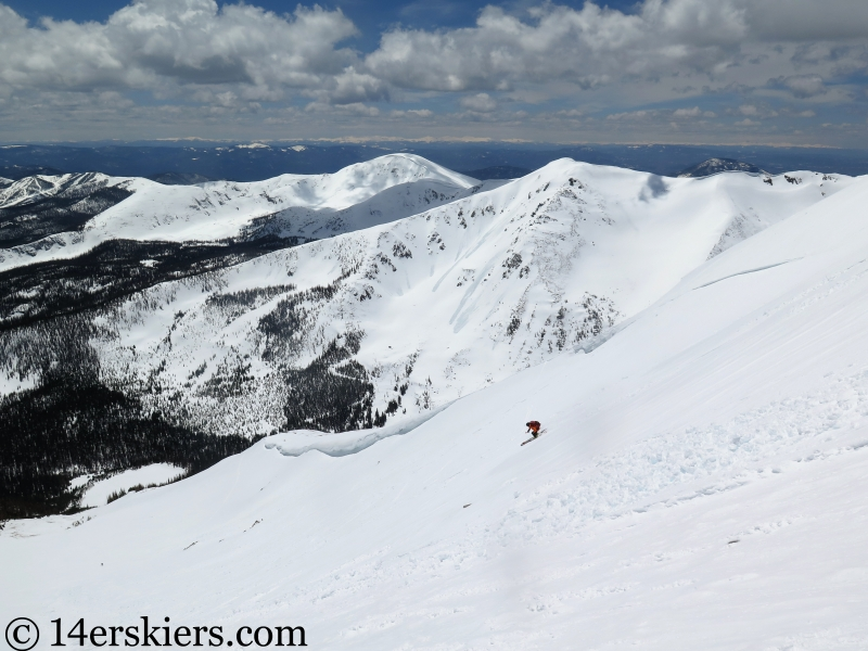 Backcountry skiing Mt. Aetna