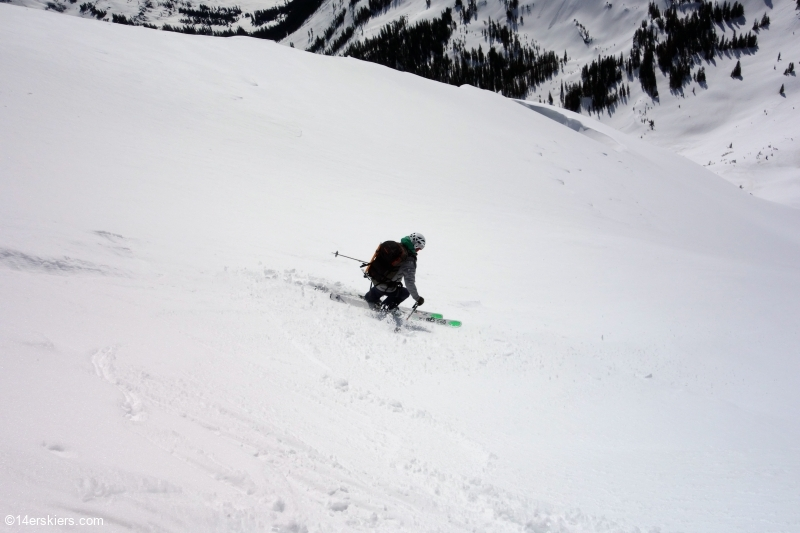 Backcountry skiing Afley Peak near Crested Butte, CO