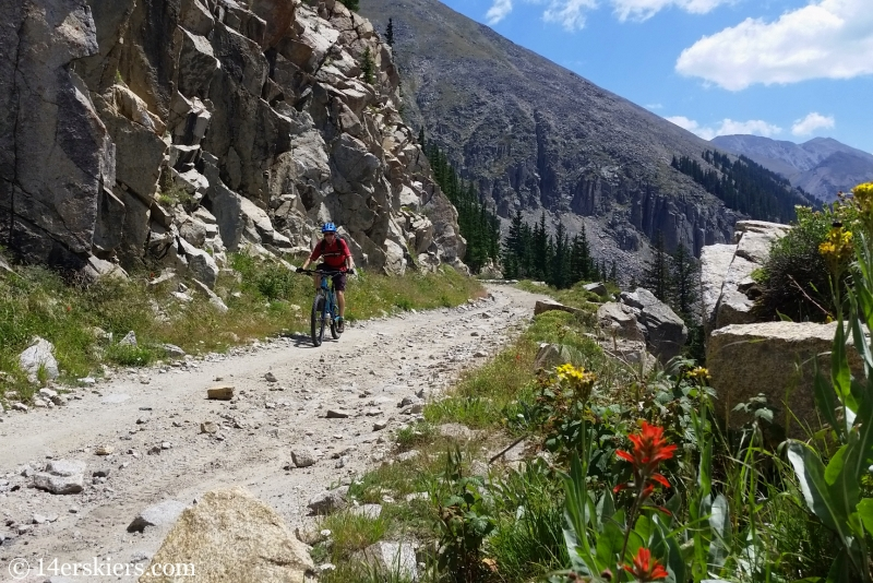 Biking on the Alpine Tunnel Road