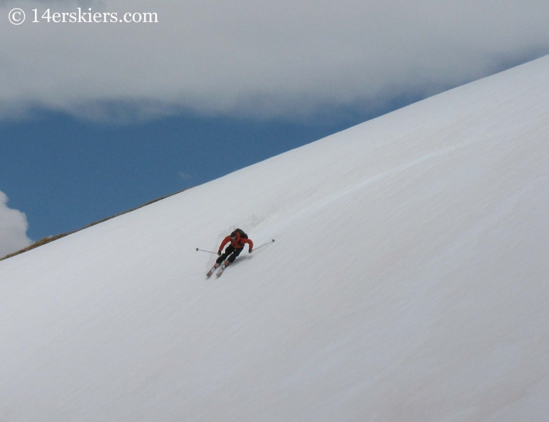 Frank Konsella backcountry skiing on Mount Antero.