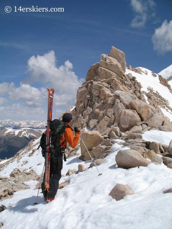 Ridge while ascending Mount Antero to go backcountry skiing.