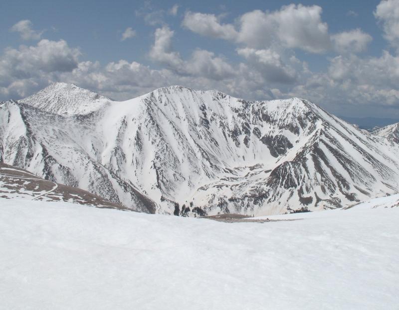 Mount Tabeguache seen from Mount Antero.